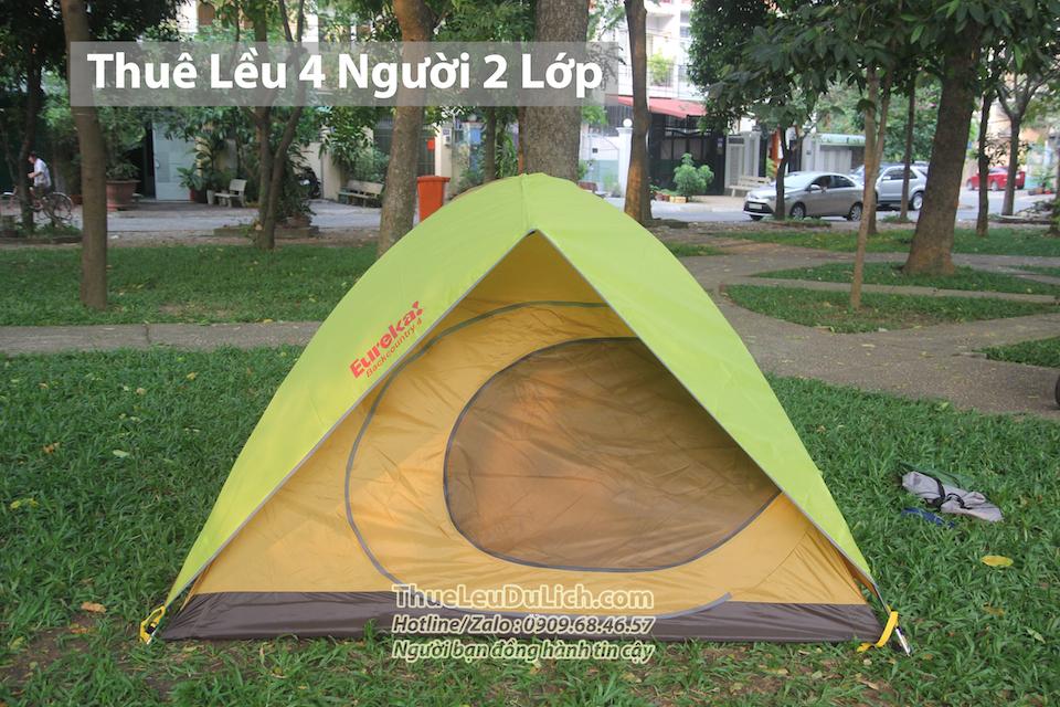 thuê lều cắm trại 4 người 2 lớp