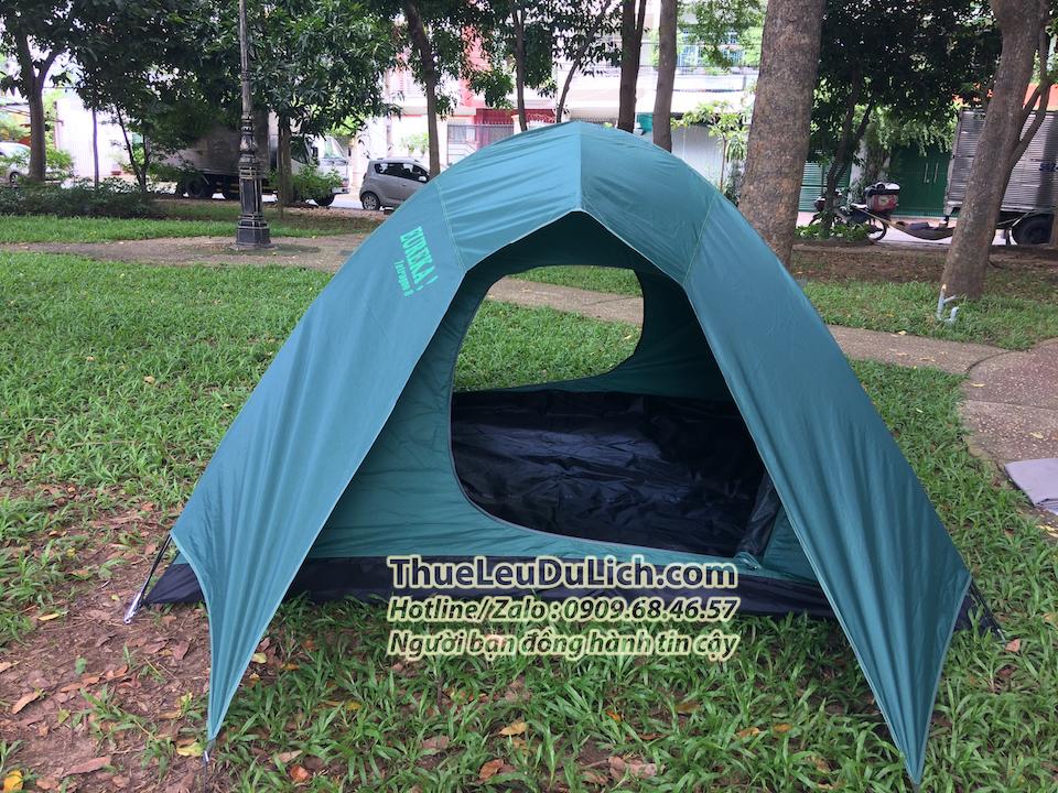 thuê lều 6 người 2 lớp 2 cửa chống mưa lớn