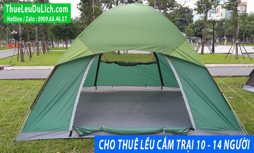 thuê lều cắm trại 10 - 14 người